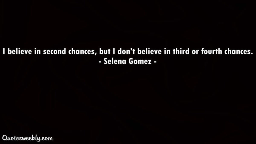 Second chances quotes
