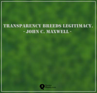 Transparency quotes