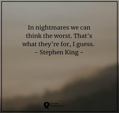 nightmares quotes