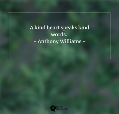 kind words quotes